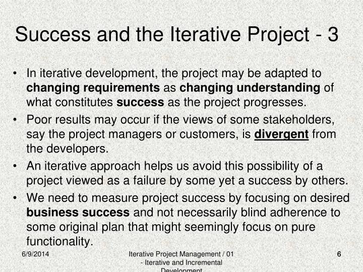 Success and the Iterative Project - 3