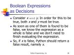 boolean expressions as decisions89