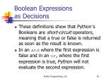 boolean expressions as decisions91