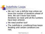 indefinite loops12