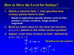 how to move the level set surface