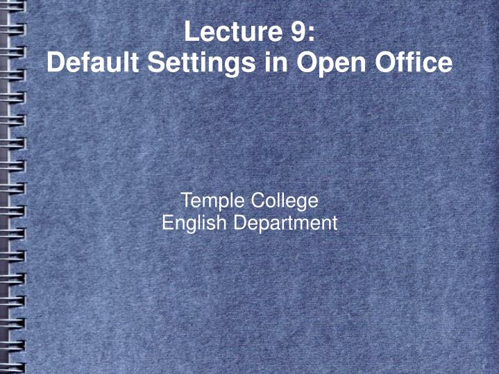 Temple college english department