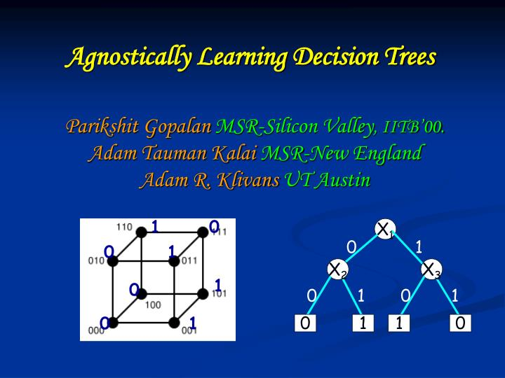 agnostically learning decision trees n.
