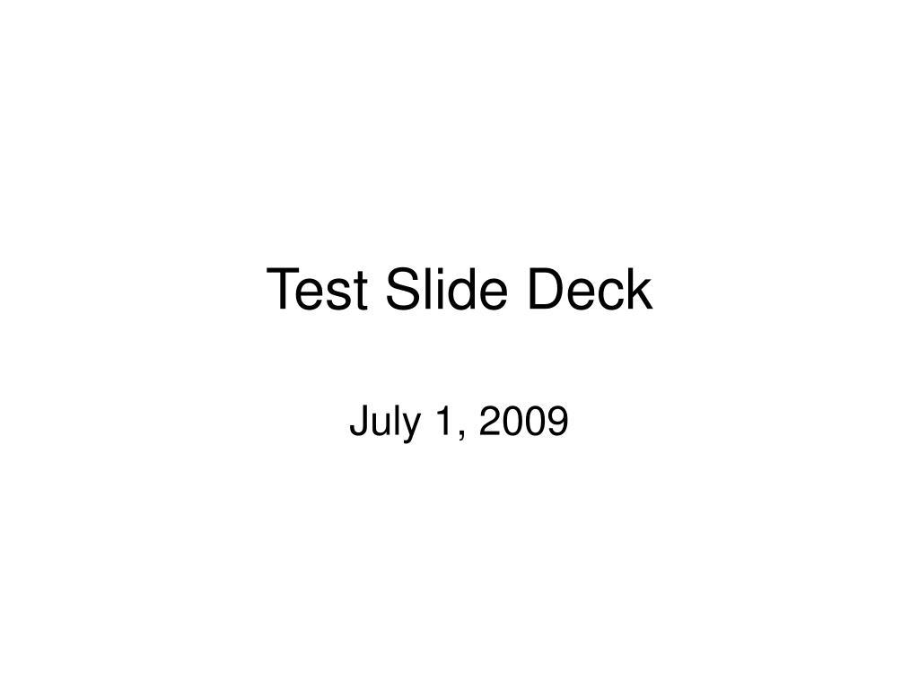 test slide deck l.