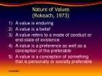 nature of values rokeach 1973