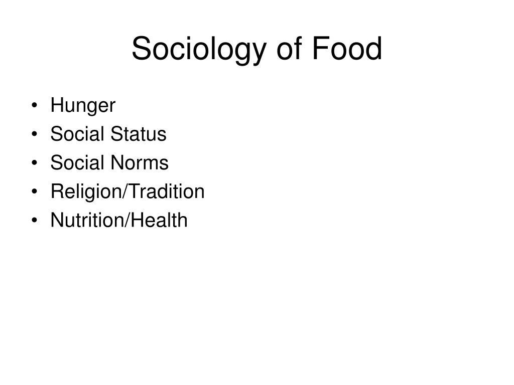 Sociology of Food