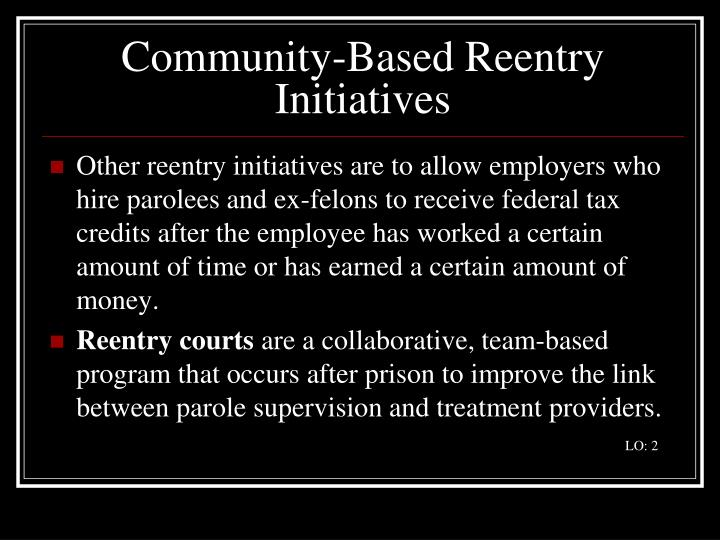 Community-Based Reentry Initiatives