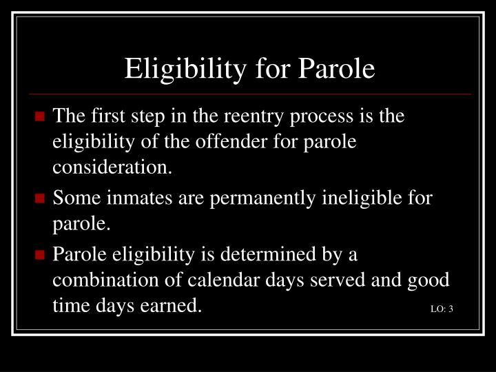 Eligibility for Parole