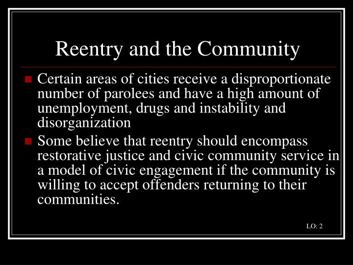 Reentry and the Community