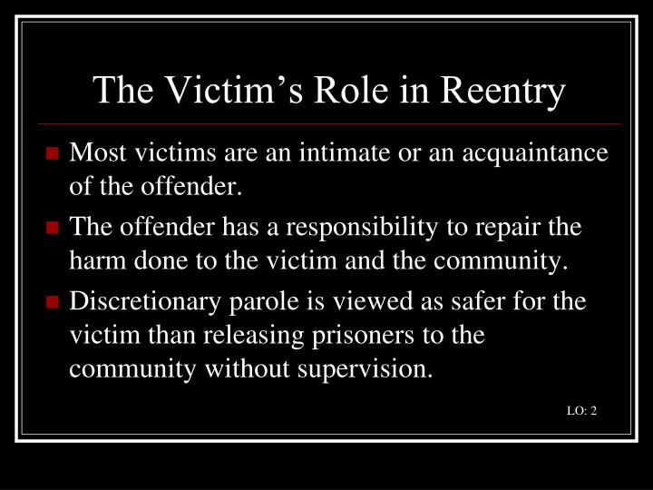 The Victim's Role in Reentry