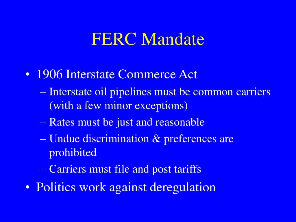 FERC Mandate