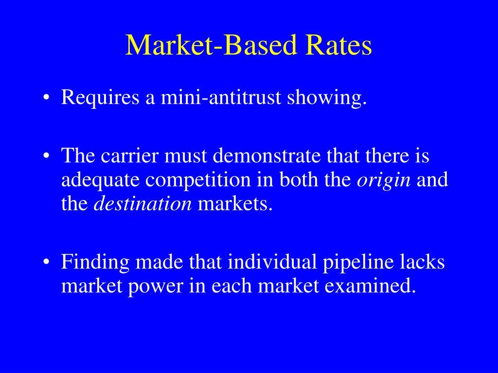 Market-Based Rates