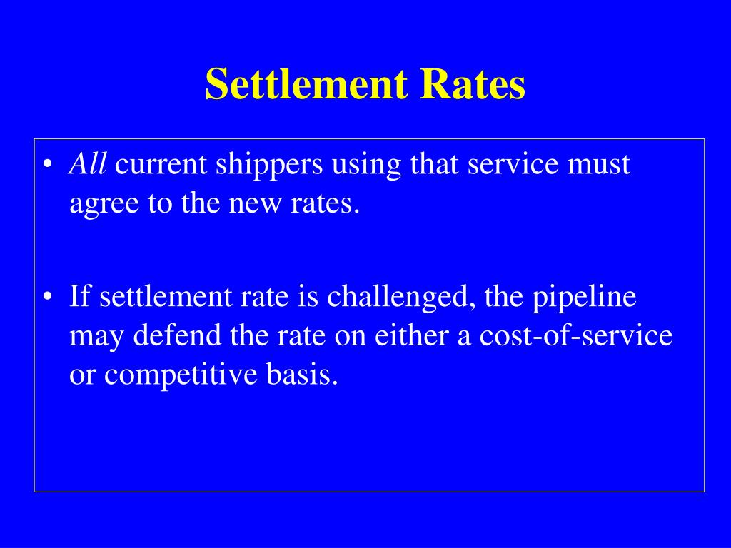 Settlement Rates