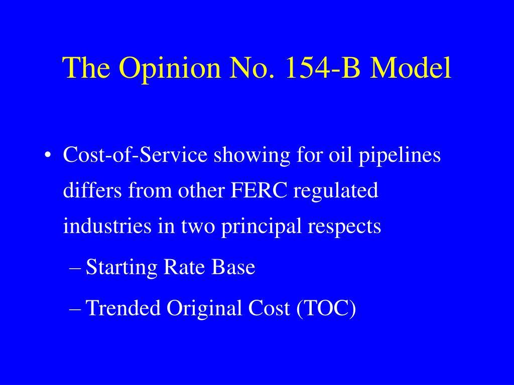 The Opinion No. 154-B Model