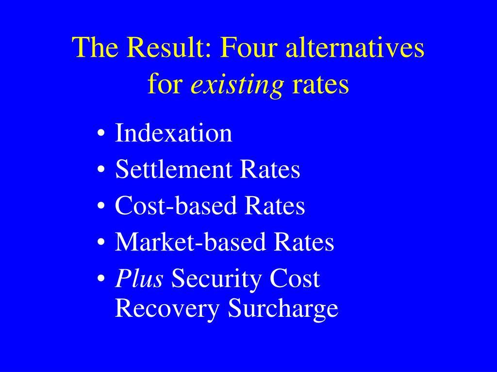 The Result: Four alternatives
