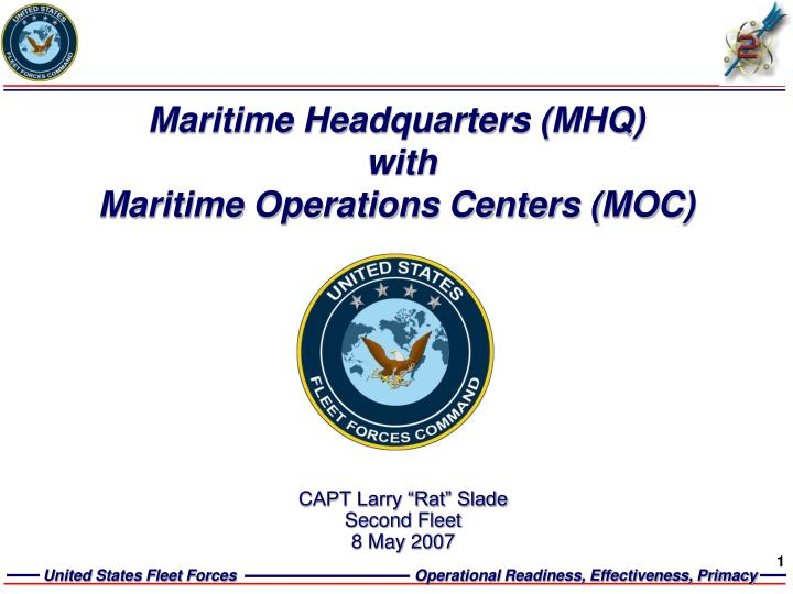 maritime headquarters mhq with maritime operations centers moc n.