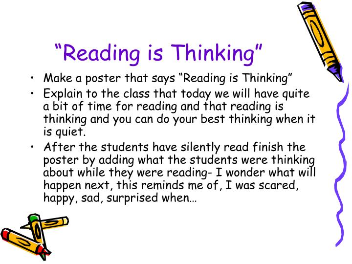 """Reading is Thinking"""