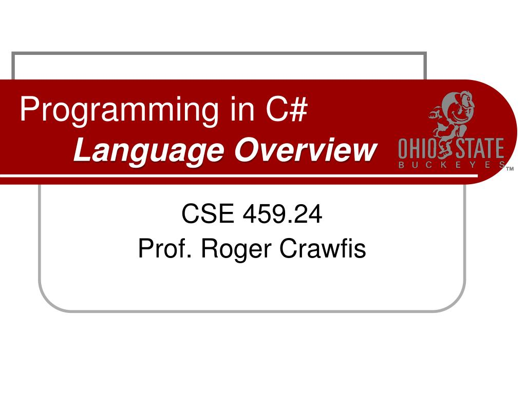 programming in c language overview l.