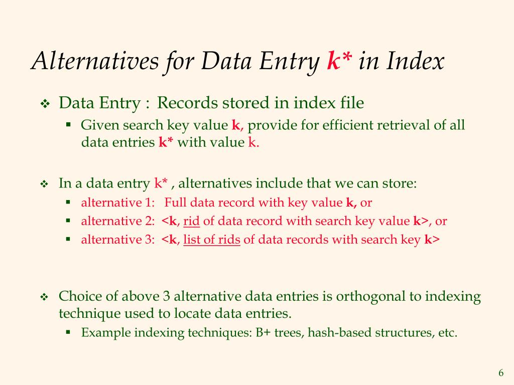 Alternatives for Data Entry