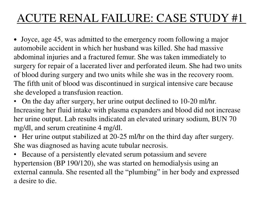 acute renal failure case study 1 l.