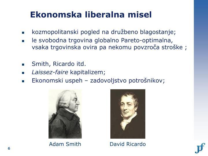 Ekonomska liberalna misel