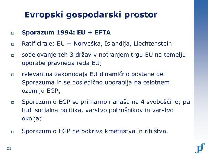 Evropski gospodarski prostor