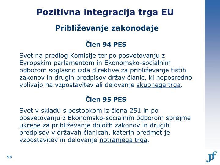 Pozitivna integracija trga EU