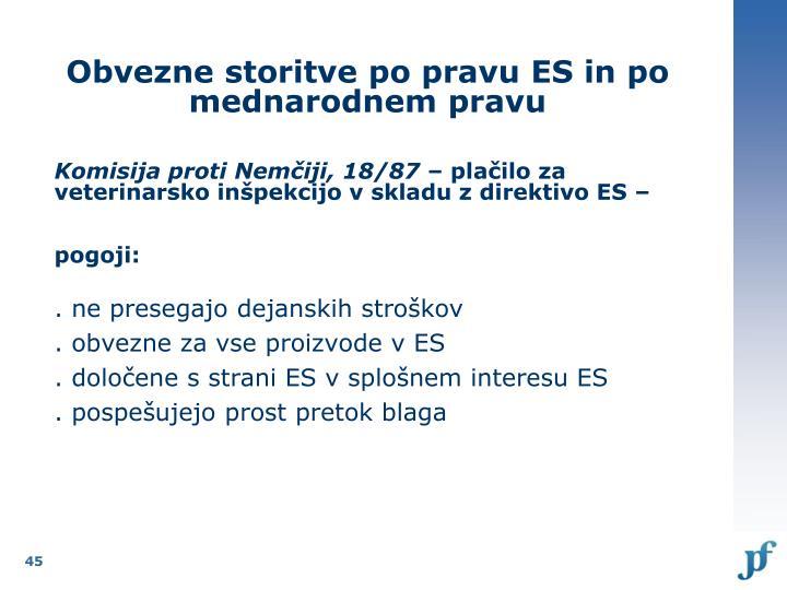 Obvezne storitve po pravu ES in po mednarodnem pravu