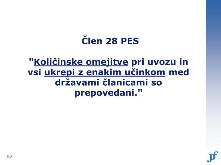Člen 28 PES