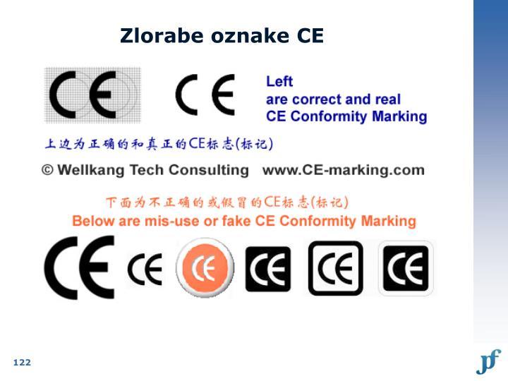Zlorabe oznake CE
