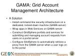gama grid account management architecture