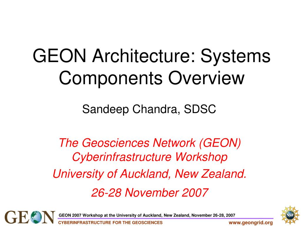 geon architecture systems components overview l.