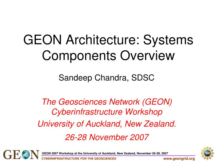 geon architecture systems components overview n.