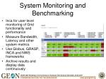 system monitoring and benchmarking
