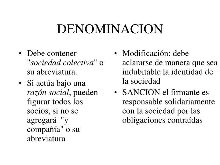 Denominacion