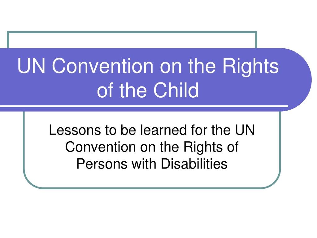 united nations convention on the rights of the child pdf