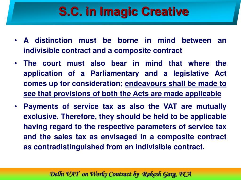 S.C. in Imagic Creative