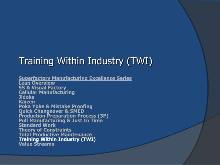 training within industry twi n.