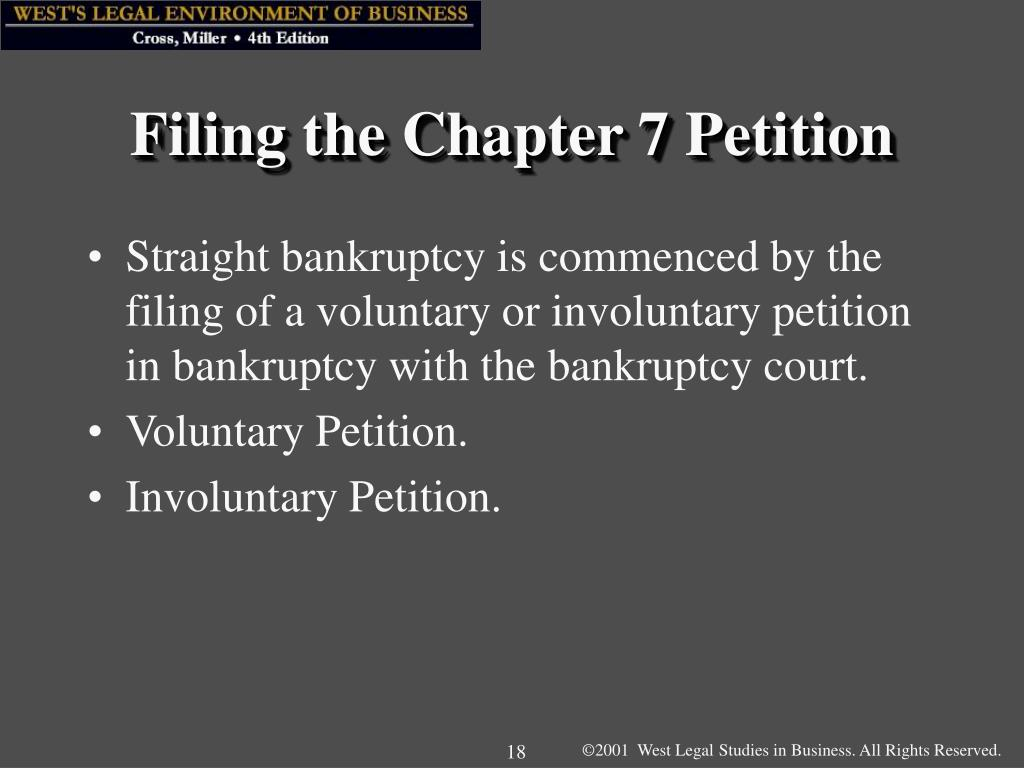 Filing the Chapter 7 Petition