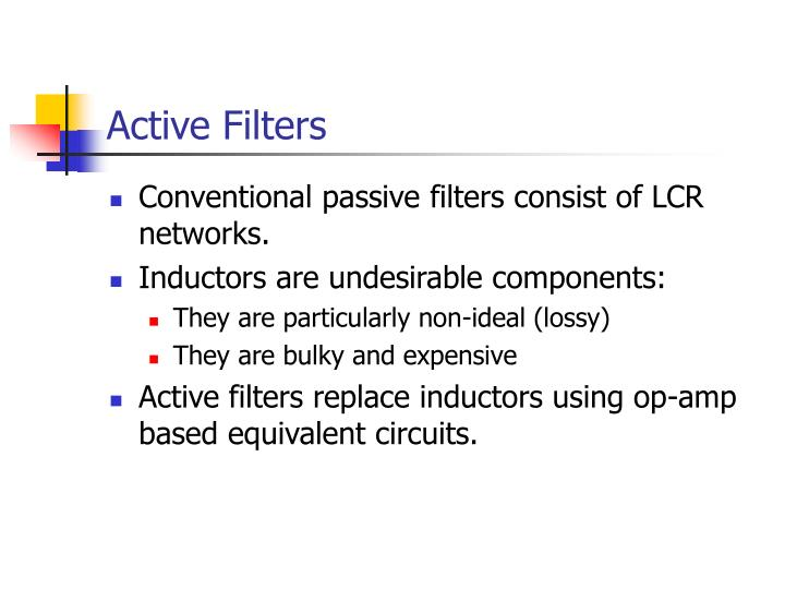 active filters n.