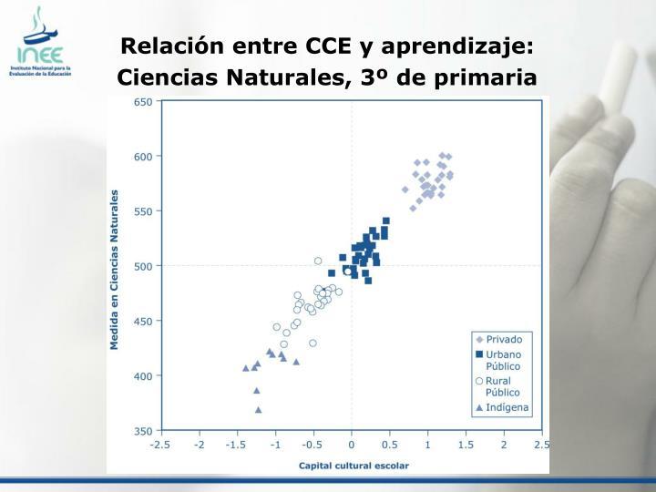 Relación entre CCE y aprendizaje: