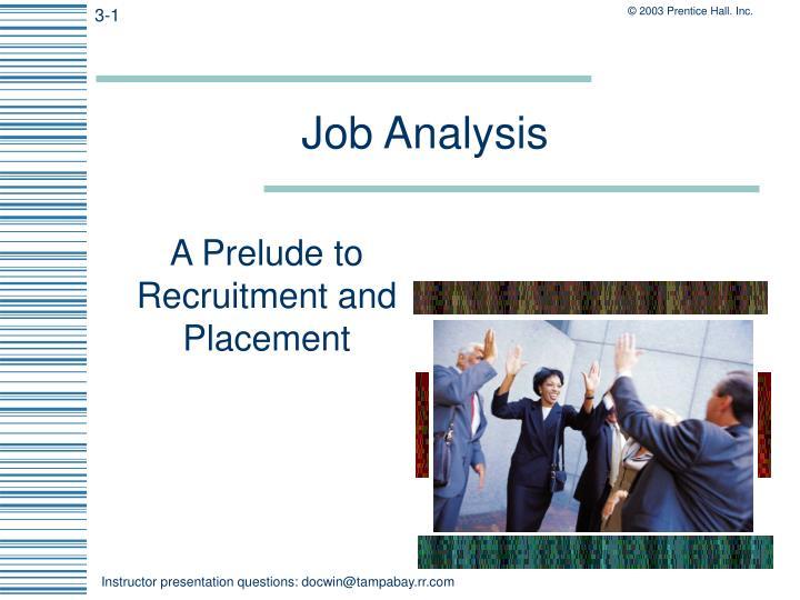 job analysis n.