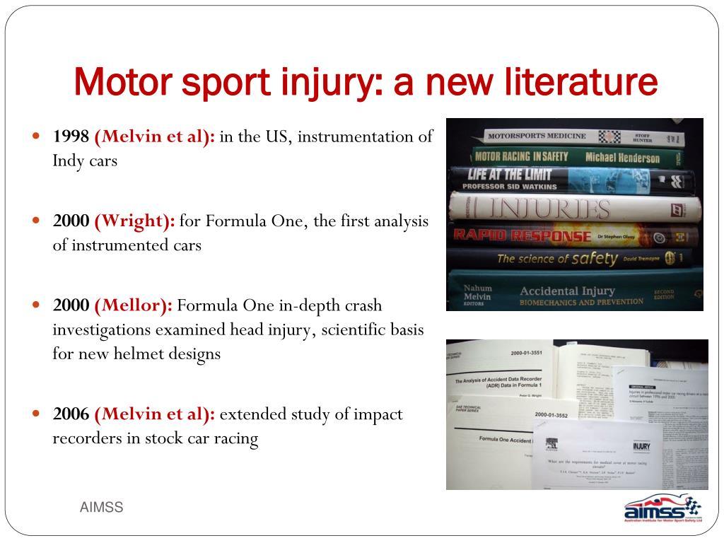Motor sport injury: a new literature