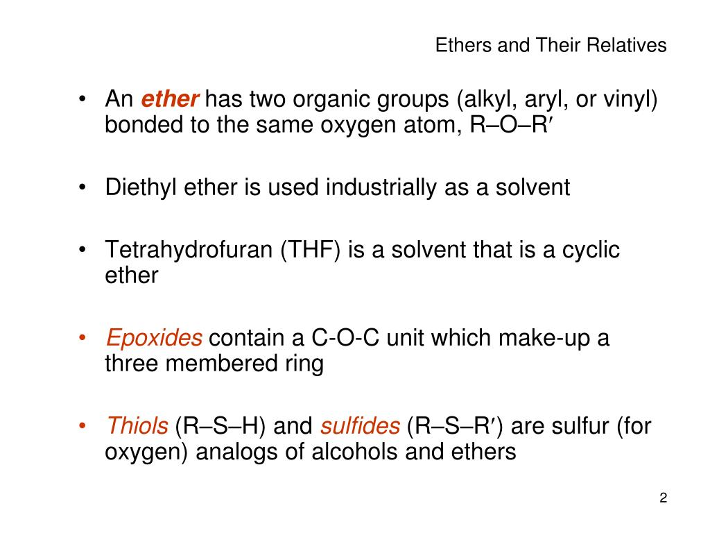 Ppt Ch 18 Ethers And Epoxides Powerpoint Presentation