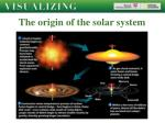 the origin of the solar system14