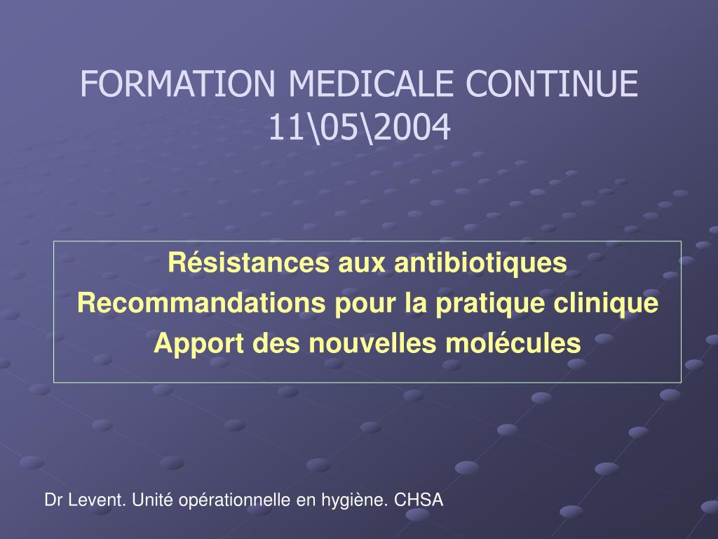 formation medicale continue 11 05 2004