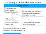 an example of the additional cause reservation