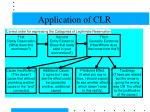 application of clr