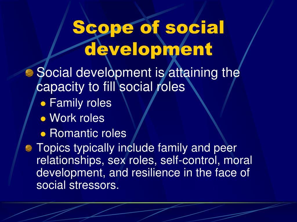 Scope of social development