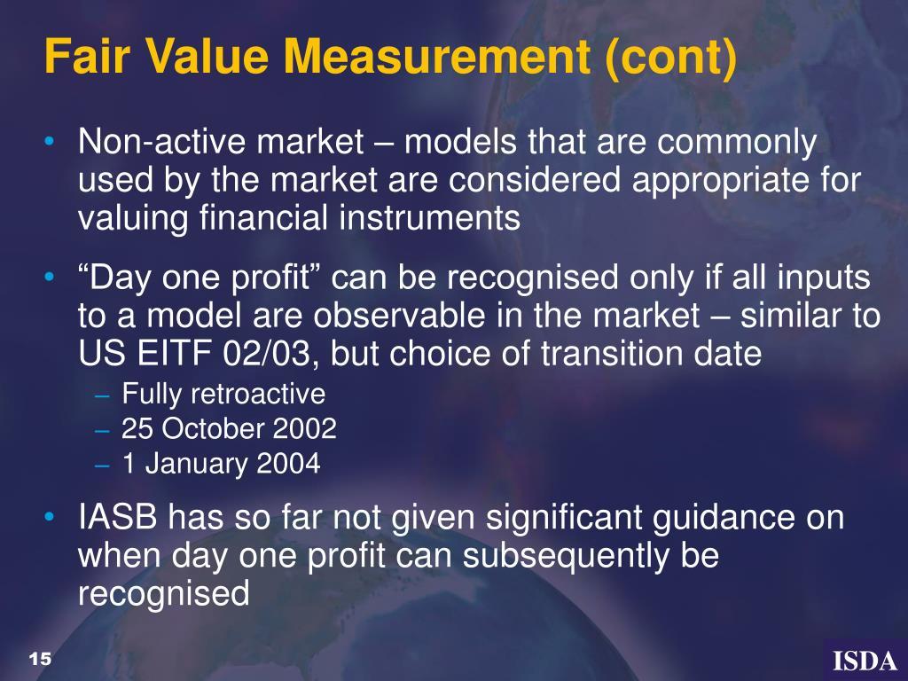 Fair Value Measurement (cont)